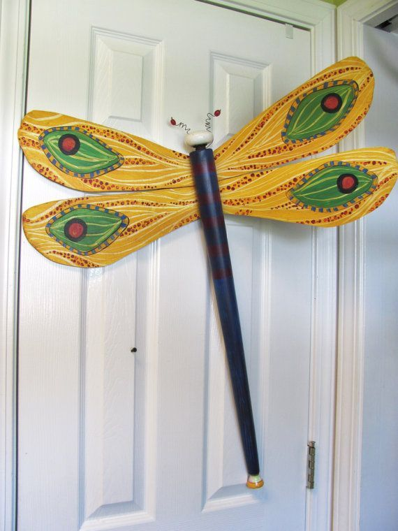 Re Pinned Dragonflies Made From A Table Leg And Ceiling