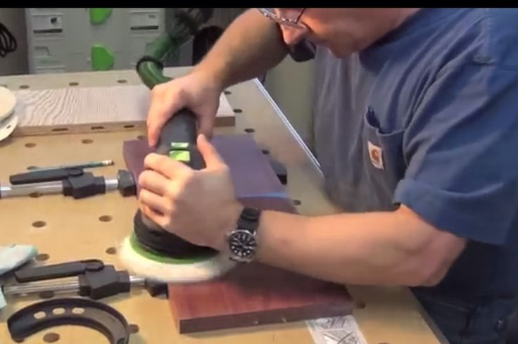 Sanding to polish with the Festool ROTEX RO 150