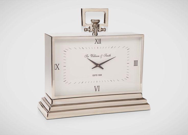 Large Nickel Desk Clock |