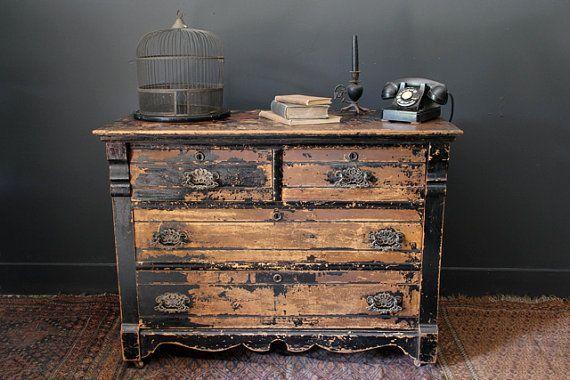 Steampunk furniture | Antique Steampunk Dresser Bureau by ... | Painted Furniture