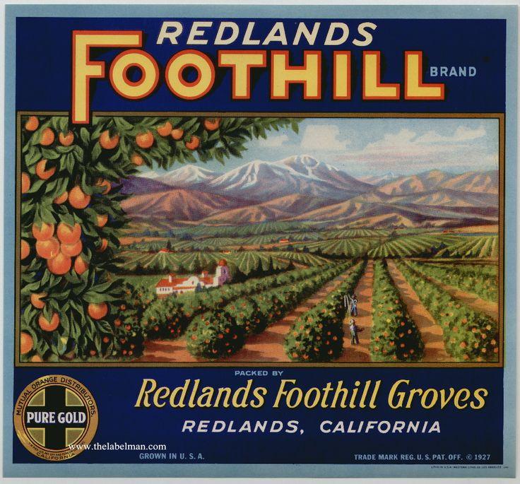 labels vintage produce