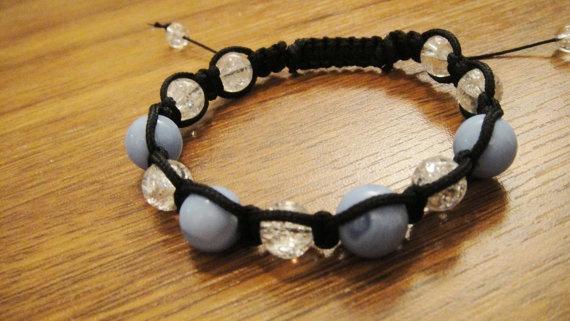 Shamballa style energy bracelet agate stone by UniqueDScandinavia