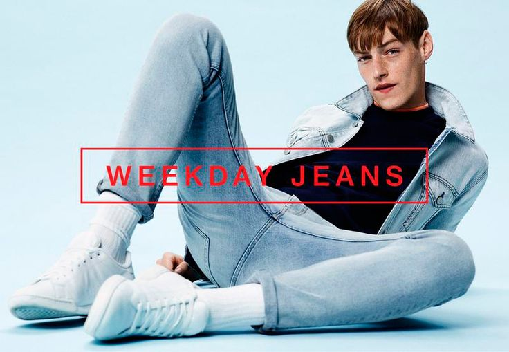 Roberto Sipos fronts the Spring/Summer 2016 campaign of WEEKDAY JEANS, shot by Johan Sandberg and styled by James Valeri.