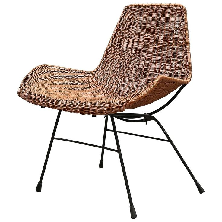 Perfect Mid Century Wicker Chair Designed By Kerstin Hörlin Holmquist