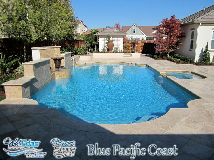 Pool Plaster Mix : Primera stone blue pacific coast built by riveria pools