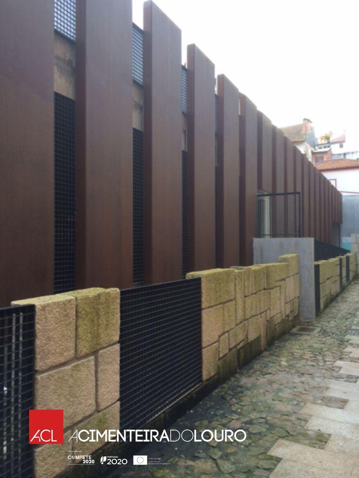 Veja mais esta magnifica obra! Parque de estacionamento  Chaves Paineis Aço Corten  -- Take a look this amazing work done! Car park Chaves Corten Steel Panels