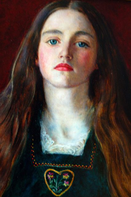 John Everett Millais (1829-1996), Portrait of Sophie Gray (Getty Museum) - Sir John Everett Millais, 1st Baronet, PRA was an English painter and illustrator and one of the founders of the Pre-Raphaelite Brotherhood.
