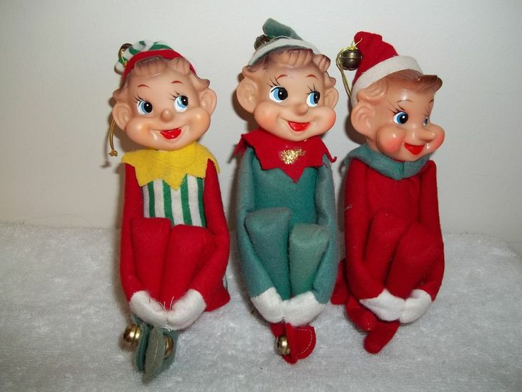 Will Japan vintage elf ornaments