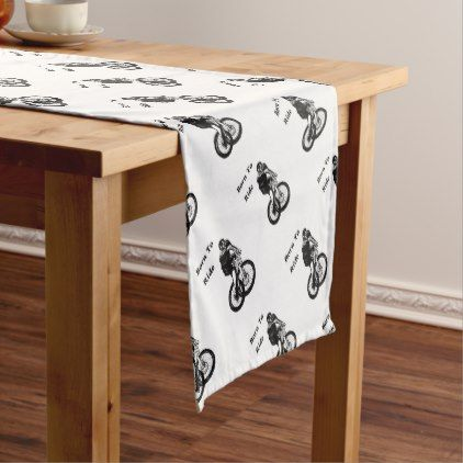 Mountain Biker MTB BMX CYCLIST Cyclo cross Short Table Runner - baby gifts giftidea diy unique cute