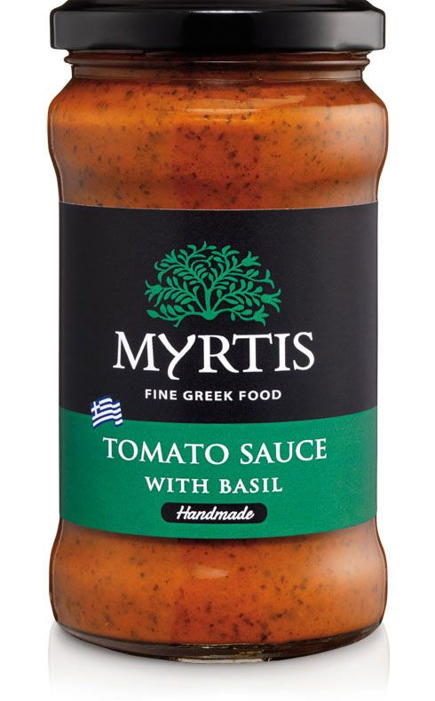 Myrtis Basil Tomato Sauce is made from the finest selection of ripe tomatoes for an extra rich flavor, Greek Basil and a hint of spices to create a unique taste. Our handmade sauce is perfect for pasta, pizza, stews and for many plates of the Mediterranean Cuisine.