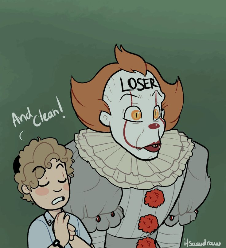 "Stan couldn't help himself and decided to try and ""clean"" Pennywise's lair from all of the clutter. ((I drew the first panel a..."