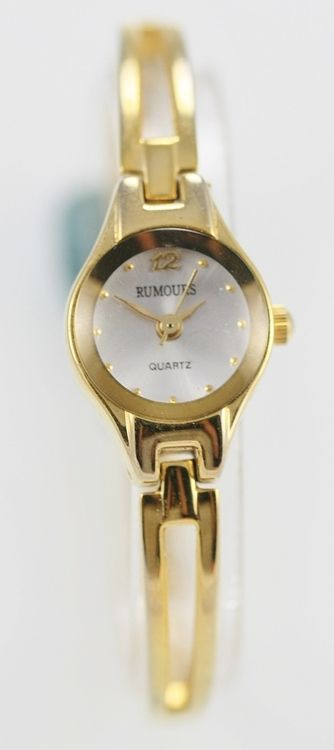 Rumours Watch Womens White Stainless Steel Gold Water Resistant Easy Read Quartz
