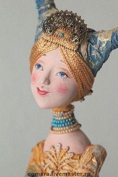 "Кукла-шкатулка ""Зимнее утро"" - авторская кукла,коллекционная кукла,кукла-шкатулка"