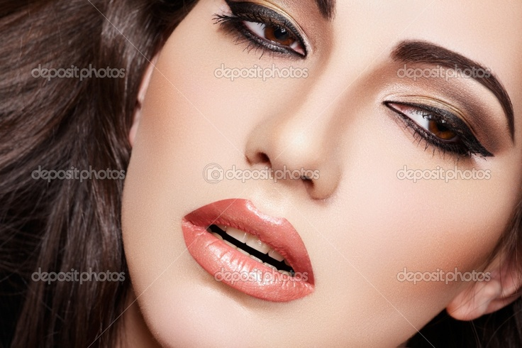 effect of contouring to make the cheek bones stand out and coulouring on eyebrows to make them more darker. This would be used as a evening makeup