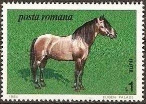 Znaczek: Hutul (Rumunia) (Horses) Mi:RO 4078,Sn:RO 3216,Yt:RO 3529