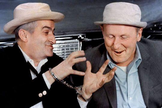 Louis de Funès et Bourvil dans le CORNIAUD (1964)