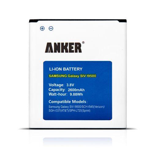 Anker® 2600mAh Li-ion Batería para Samsung Galaxy S4 S IV SIV, I9500, I9505 con NFC / Google Wallet - http://www.tiendasmoviles.net/2016/01/anker-2600mah-li-ion-bateria-para-samsung-galaxy-s4-s-iv-siv-i9500-i9505-con-nfc-google-wallet/