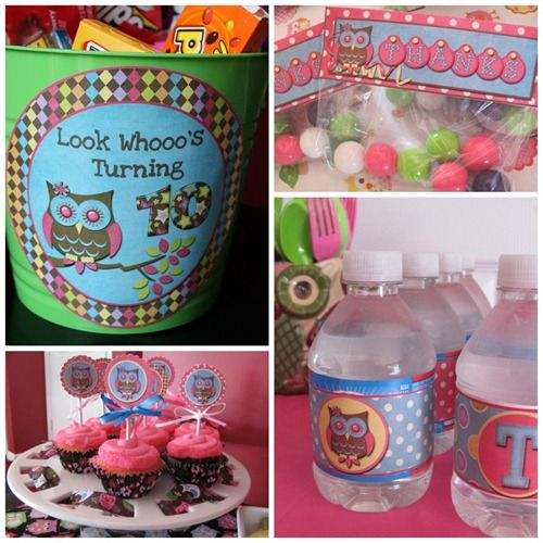 FlipChick Designs--Owl Party Printables