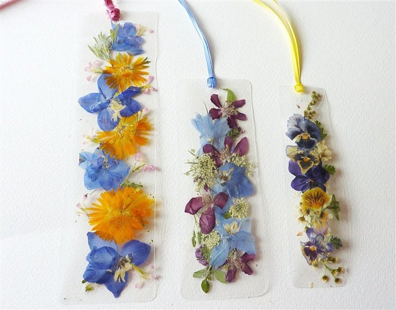 Best pressed flower bookmarks images on pinterest