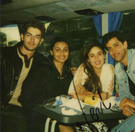 Hrithik, Neil, Rani and Kareena pose together