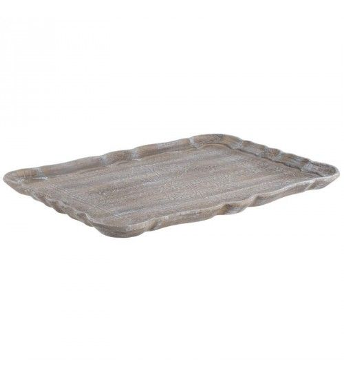 WOODEN TRAY IN ANTIQUE BROWN 40X28_5X2_5