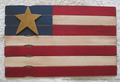 Make a flag from paint stirring sticks