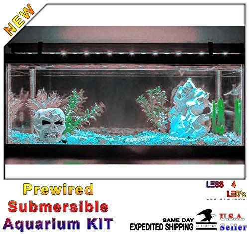 48in 4ft Silicon Aquarium Fish Tank Flexible LED Strip Light Waterproof 12V 2A Kit (Cool White) - http://www.petsupplyliquidators.com/48in-4ft-silicon-aquarium-fish-tank-flexible-led-strip-light-waterproof-12v-2a-kit-cool-white/