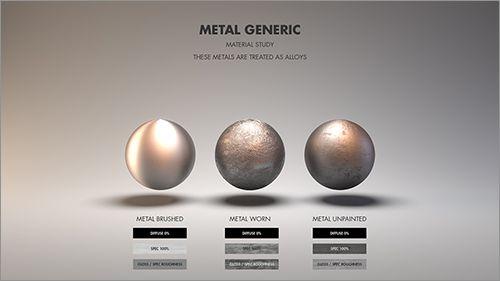 一般的な金属の質感