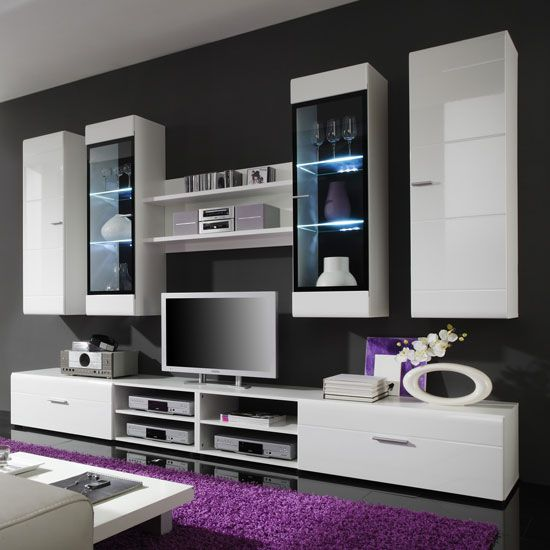 Living Room Furniture White Gloss 28 best wall units images on pinterest | tv units, living room