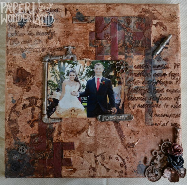 """Hubby's First Mixed Media Canvas """"Journey"""""""