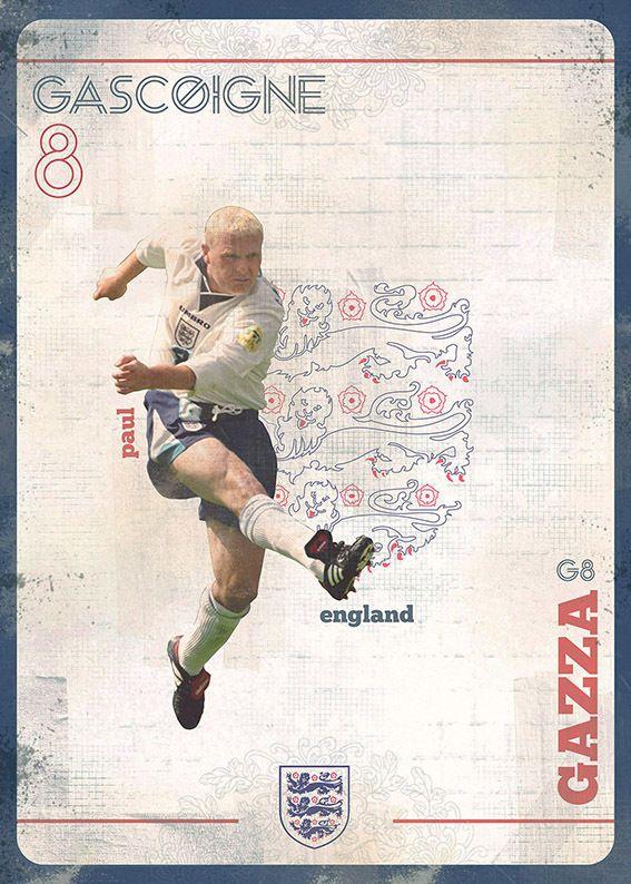"The Gods Of Football (Part I) by Marija Marković on Behance — Paul John ""Gazza"" Gascoigne, #8, England"