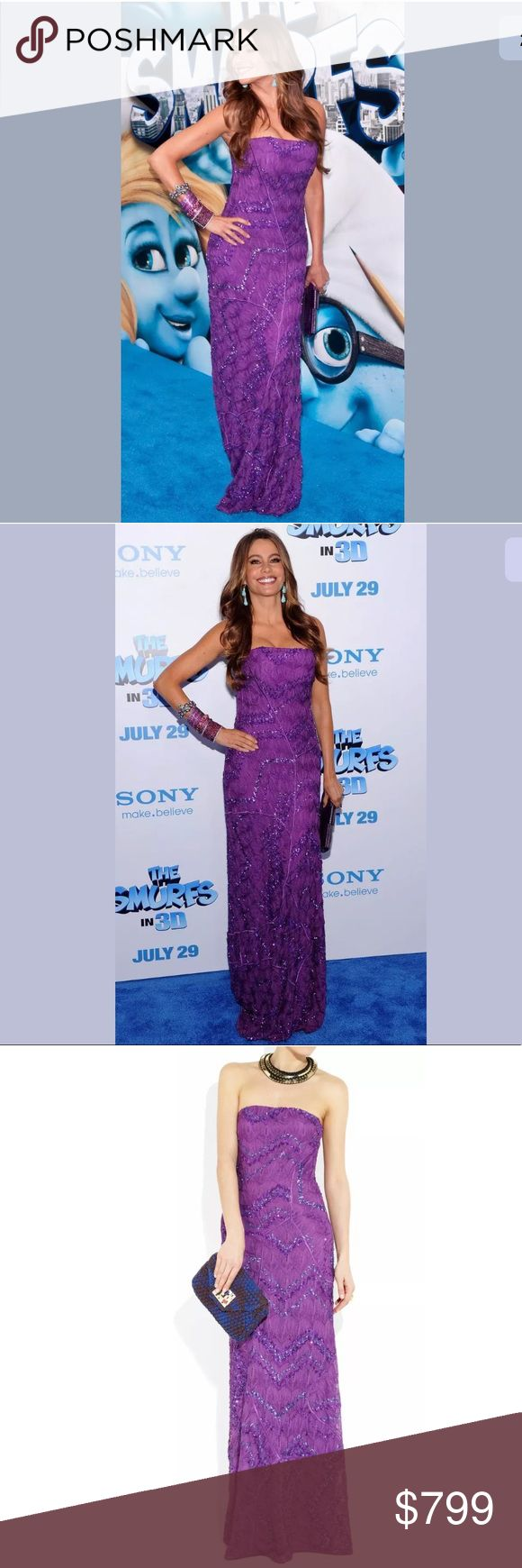 Missoni Purple Sequined Gown New with orange tag Missoni purple sequin need down as seen actress Sofia Vargara see last picture in roll for all details size 38/4 retails @ $4185.00 Missoni Dresses
