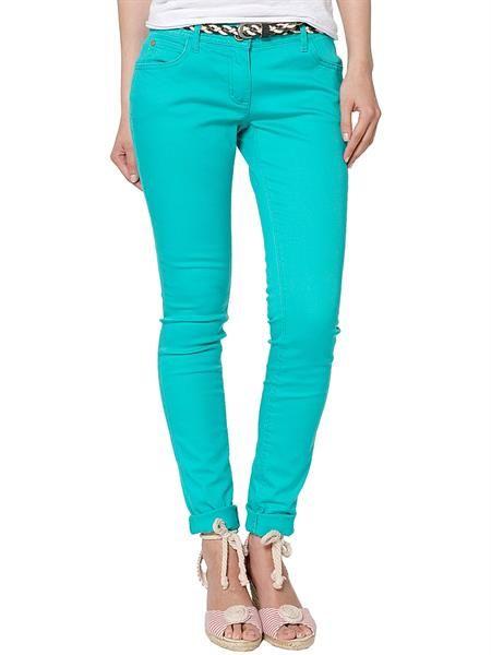Купила в джинсы штаны цвета морской бирюзовые