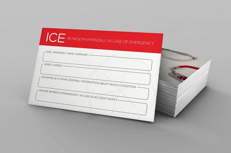 Karta ICE. Łukasz Fuks. Projektowanie Graficzne. #icecard #ice #card #wizytówka #karte #incaseofemergency #emergency #wallet #design #logo