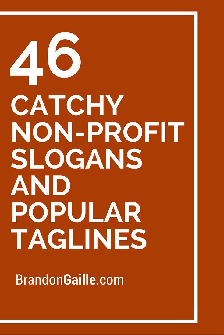 46 Catchy Non-Profit Slogans and Popular Taglines