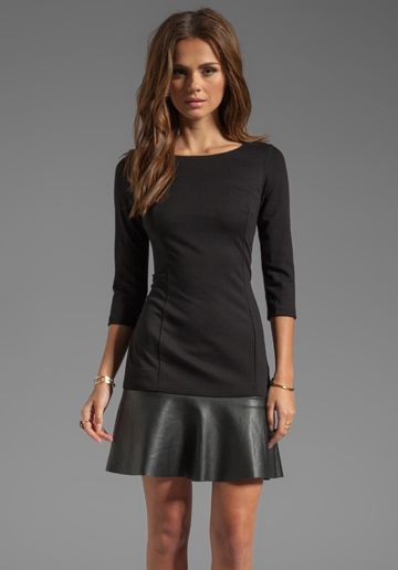 Bailey 44 Spin Doctor Drop Waist Dress in Black?#revolveclothing. So cute w boots