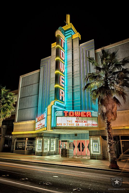 The Tower Theater marquee custom fabricated signage in Roseville, CA