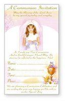 Girls Communion Invitation Cards.