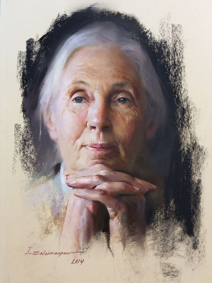 Portrait of Jane Goodall by Javad Soleimanpour