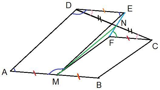 Matematică - rezolvări detaliate: Problemă cu paralelograme  clasa a VII-a
