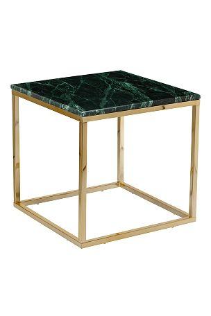 Ellos Home Soffbord Axx Litet Mässing/grön marmor, Svart/grå marmor - Soffbord | Ellos Mobile