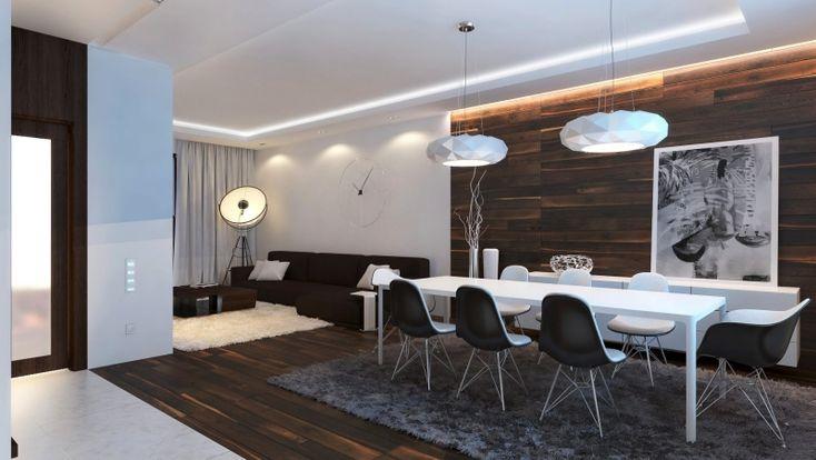 indirekte LED Beleuchtung an Wand und Decke - weißes Licht