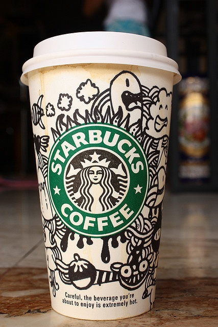 February 6 | Starbucks doodle cup by Aieos, via Flickr