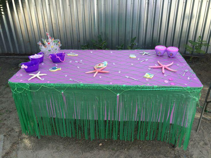 Table decorations little mermaid
