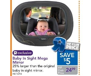 Car mirror for back seat view of babies