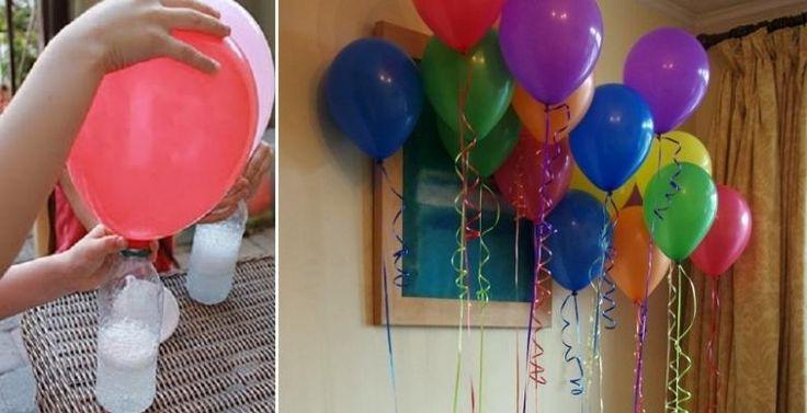 Vous saviez que l'hélium se faisait de plus en plus rare? Et vous avez déjà pensé que les bonbonnes pour hélium n'étaient pas très très écologiques? Voici une alternative pour gonfler les ballons d'anniversaire! Et n'ayez crainte! C'est le gaz qui mo