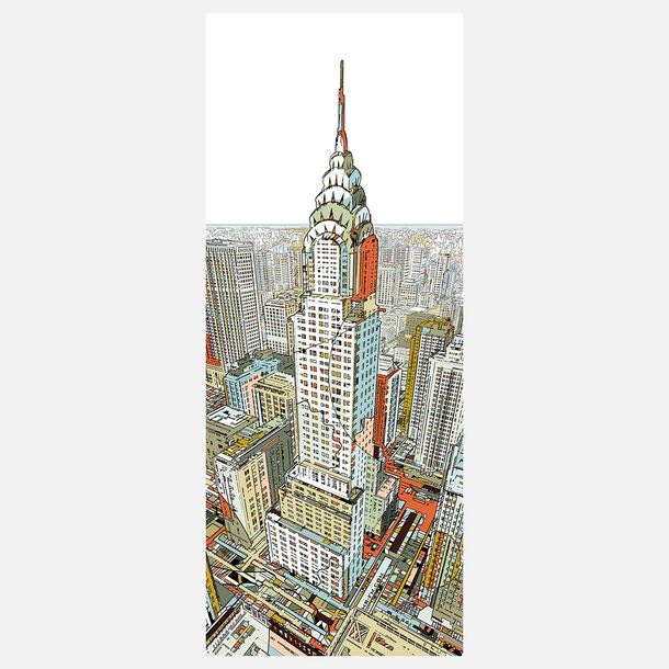 175 best milton glaser images on pinterest milton glaser for Chrysler building wall mural
