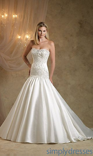 Strapless Bridal Gown by Kathy Ireland at SimplyDresses.com