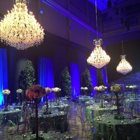 Our colleagues in Spain arranged this incredible look for a wedding in Barcelona, using chandeliers that are 3 meters!  #chandelier #rental