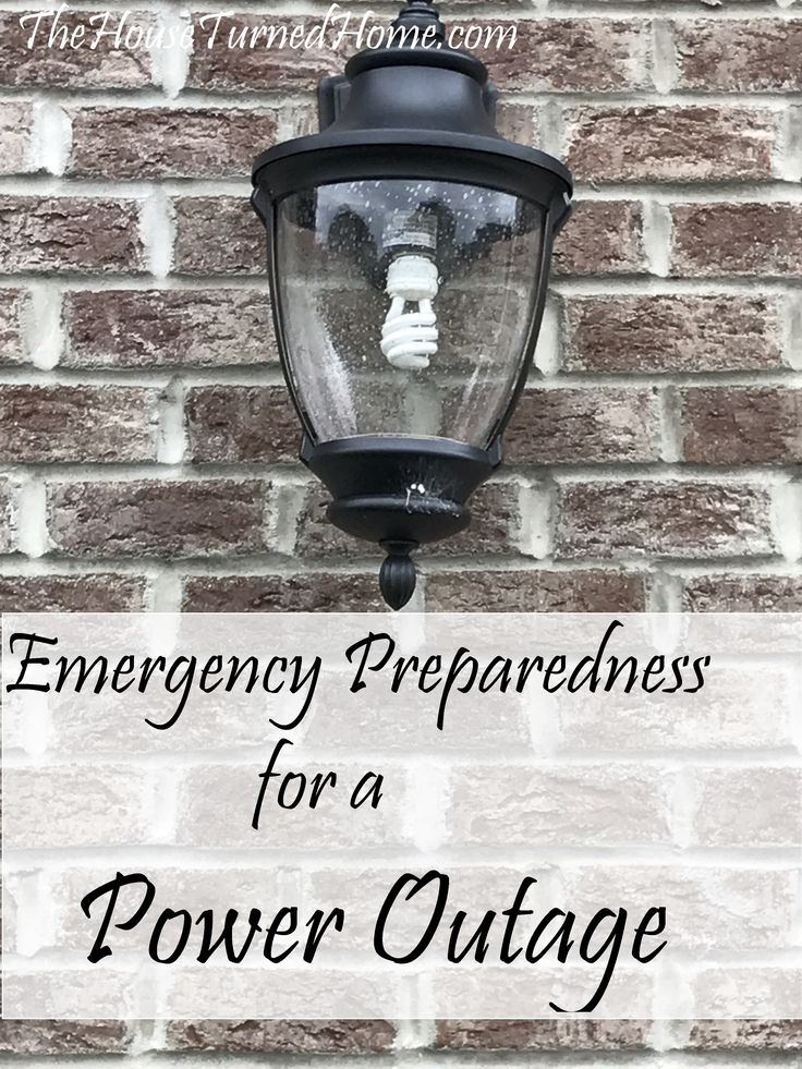 Emergency Preparedness for a Power Outage ⋆ The House Turned Home